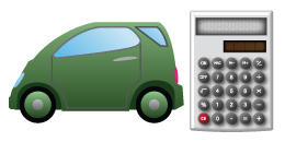 automobile with calculator