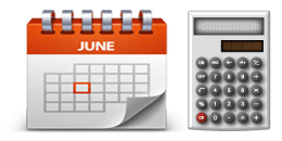 calendar with calculator