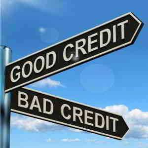good credit bad credit signpost