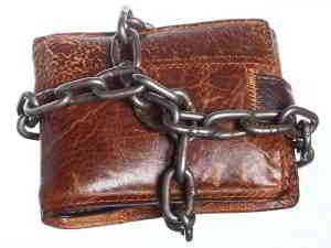 wallet locked with chains